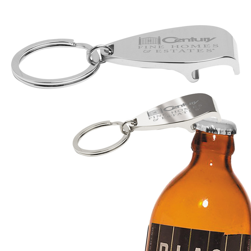 """Elite"" Laser Engraved Metal Bottle Opener Keyholder"