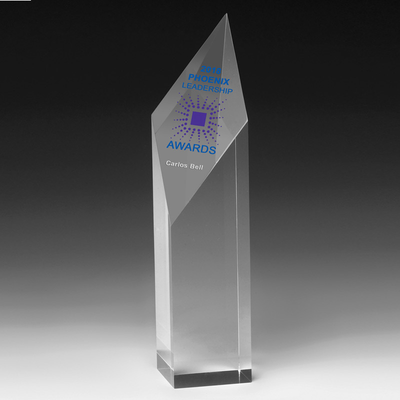 "Diamond Obelisk Award - 9"" (Laser)"