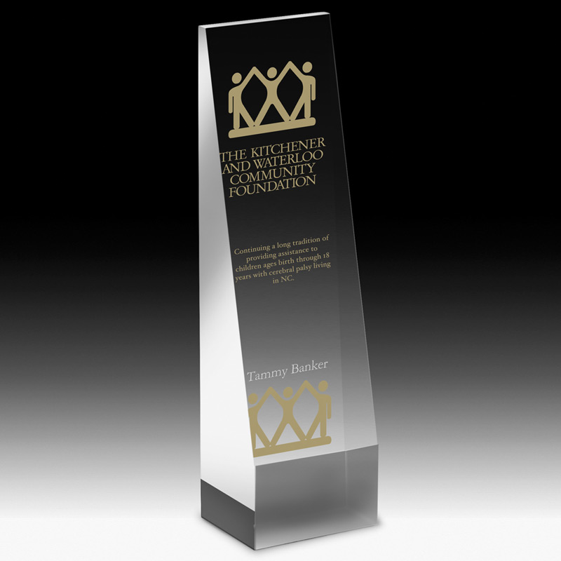 "Angled Obelisk Award - 6"" (Screen)"