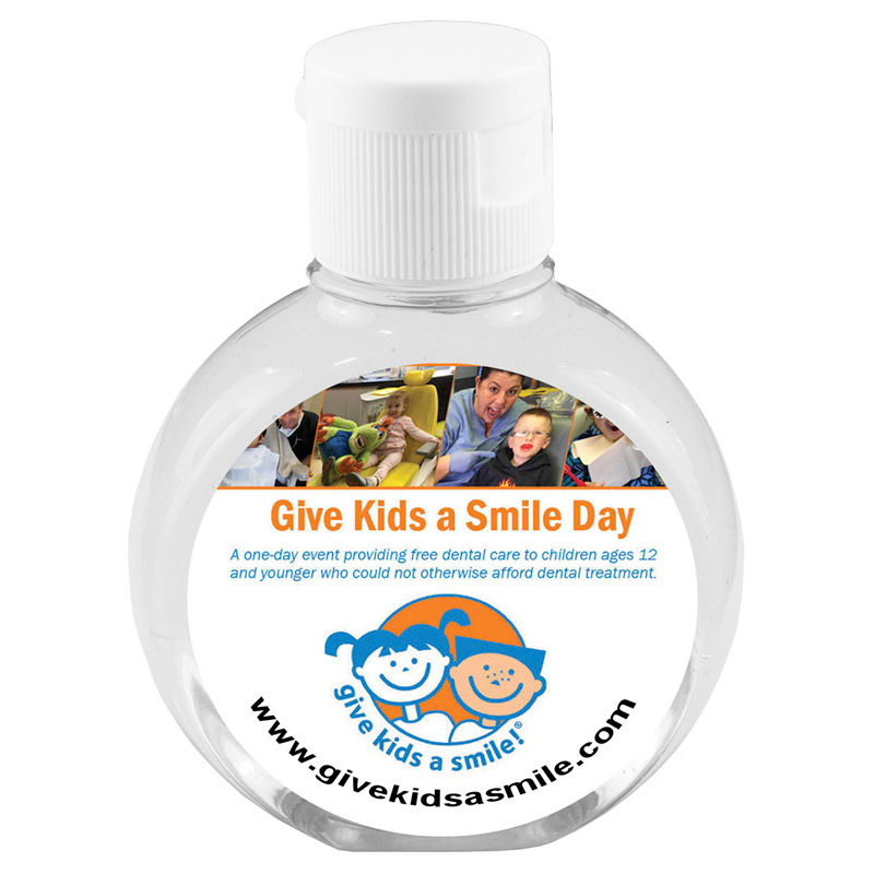 """CirPal Plus"" 2 oz Compact Hand Sanitizer Antibacterial Gel in Round Flip-Top Squeeze Bottle"