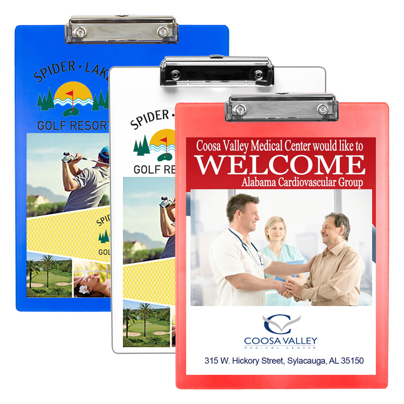 Letter Size Clipboard with PhotoImage ® Full Color Imprint* and Metal Spring Clip