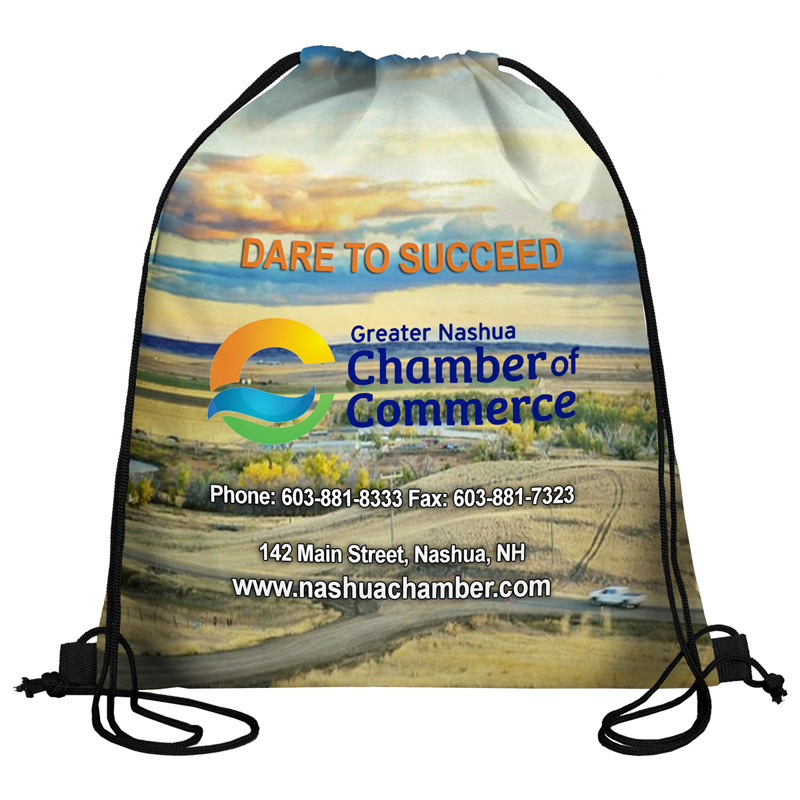 210 Polyester Full Color Sublimation Drawstring Cinch Pack Backpack - 15 Days Overseas Production