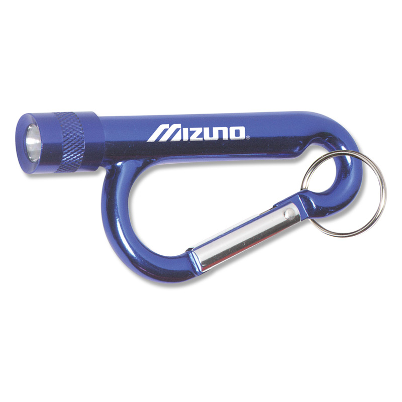 Metal Carabiner Flashlight with Split Ring Attachment