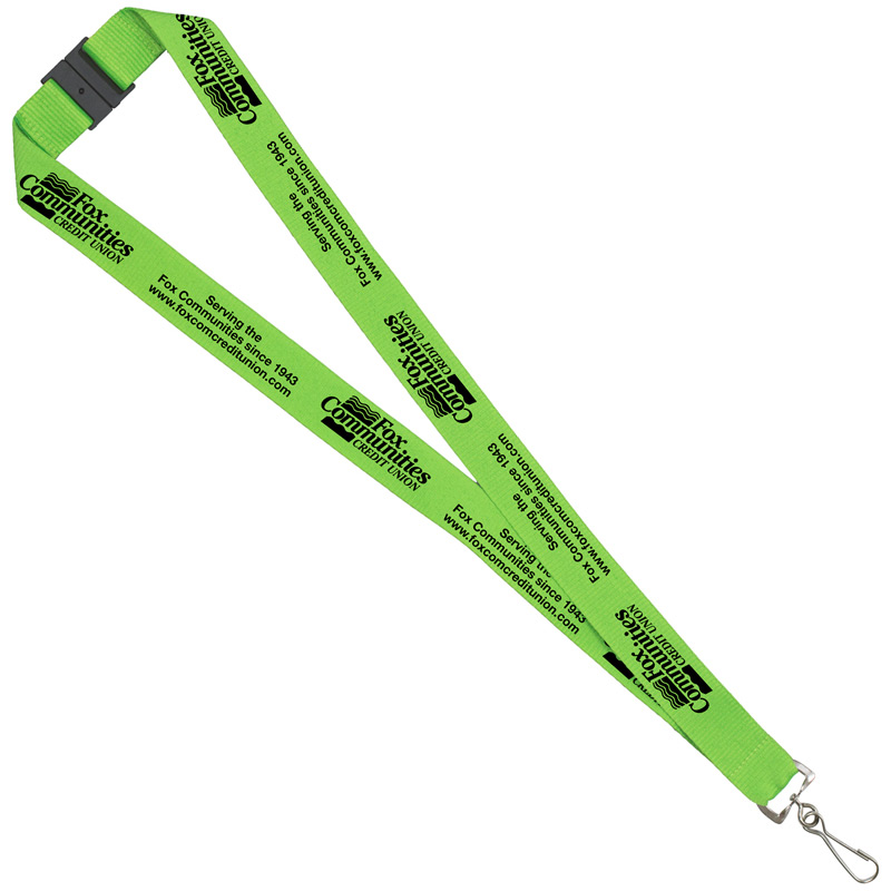 "1"" Silkscreen Lanyard with FREE Breakaway Safety Release"