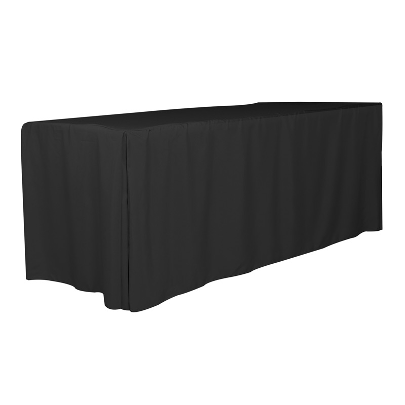 8' 4-Sided Fitted Style Table Covers & Table Throws (Spot Color Print)