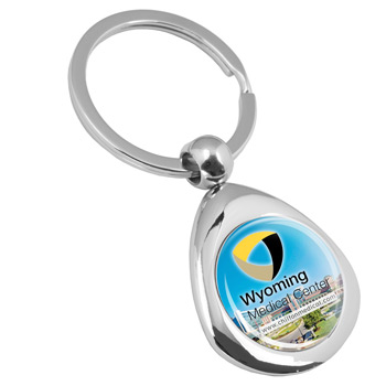 """Infini"" Laser Engraved Metal Keyholder PhotoImage ® Full Color Domed Imprint*"