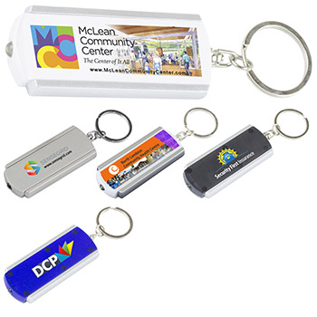 """Voyager"" PhotoImage ® Full Color Imprint Slim Keyholder Keylight with Bright White LED Light"