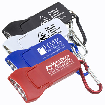 Beamer' 4 LED Keyholder Keylite with Carabiner Clip (Spot Color)
