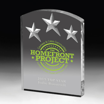 Freestanding Acrylic Awards (Full Color)