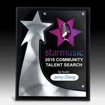 The Rising Star Plaque (Full Color)