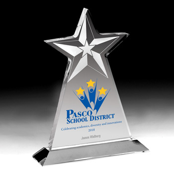 Vertical Star Award (Laser)