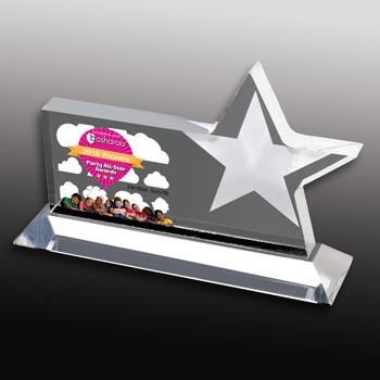 Horizontal Star Award (Laser)