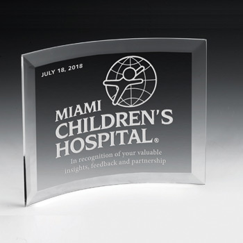 "Curved Standing Award - 5"" x 7"" (Screen)"