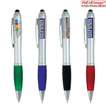 """The Guru"" White Body Stylus Pen (PhotoImage Full Color)"