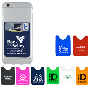 """Banker"" Soft Silicone Cell Phone Wallet"