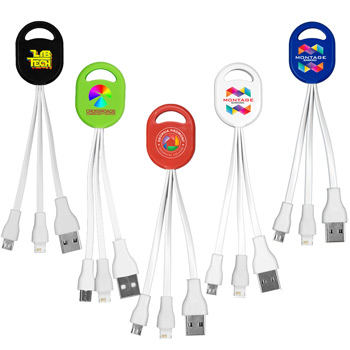 """Ogden"" 2-in-1 Charging Cable For Cell Phones and Tablets (Photoimage Full Color)"