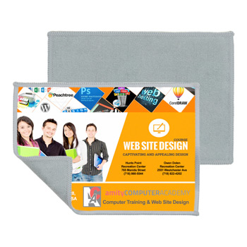 "2-in-1 Full Color Sublimation Microfiber Cleaning Cloth & Towel 5""x 7"""