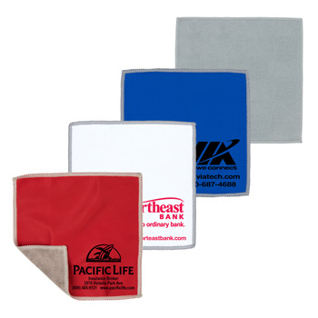 "2-in-1 Spot Color Microfiber Cleaning Cloth & Towel 6"" x 6"""