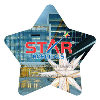 Star Shaped Full Color Microfiber Cleaning Cloths in Polybag