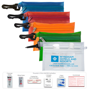 """The Traveler's Kit"" 10 Piece First Aid Sun Kit"