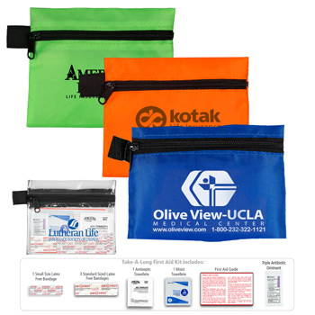 """Take-A-Long Kit 3"" 9 Piece First Aid Kit"