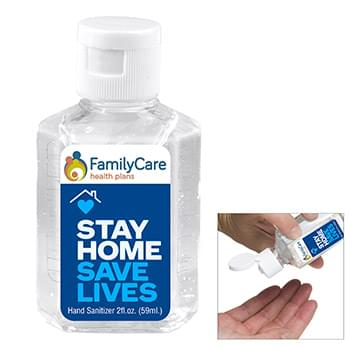 2.0 oz Hand Sanitizer Antibacterial Gel in Flip Top Squeeze Bottle