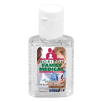 0.5 oz Compact Hand Sanitizer Antibacterial Gel in Flip-Top Squeeze Bottle (PhotoImage Full Color)