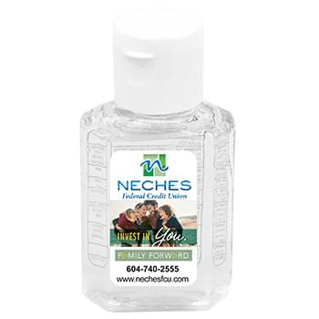 """SanPal"" 1.0 oz Compact Hand Sanitizer Antibacterial Gel in Flip-Top Squeeze Bottle"