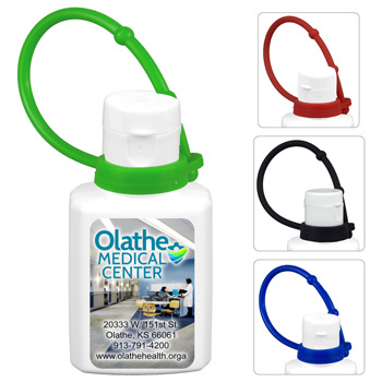 0.5 oz Broad Spectrum SPF 30 Sunscreen Lotion In Solid White Flip-Top Squeeze Bottle with Colorful Silicone Leash