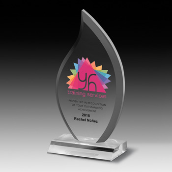 "Multi-Faceted Acrylic Award - 7 3/4"" (Full Color)"
