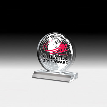 "Globe Award - 5"" Dia (Screen)"