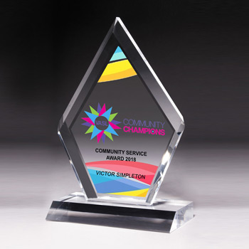 "Multi-Faceted Acrylic Award - 5"" x 8 3/4"" (Screen)"