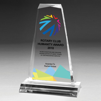 "Multi-Faceted Acrylic Award - 8 3/4"" (Screen)"