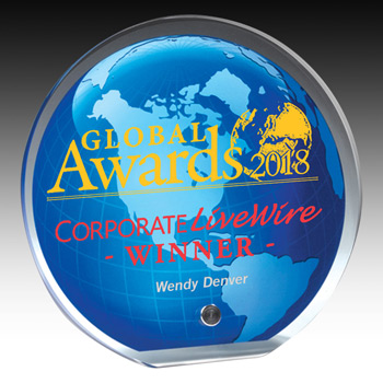 "Globe Graphic Award - 6 1/2"" Dia (Screen)"