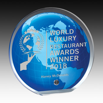 "Globe Graphic Award - 5"" Dia (Laser)"