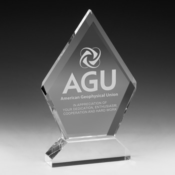 "Multi-Faceted Acrylic Award  - 6"" x 7 1/2"" (Screen)"