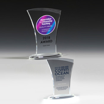 "Allure Acrylic Award - 8""? (Full Color)"
