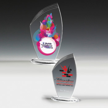 "Allure Acrylic Award - 8"" (Full Color)"