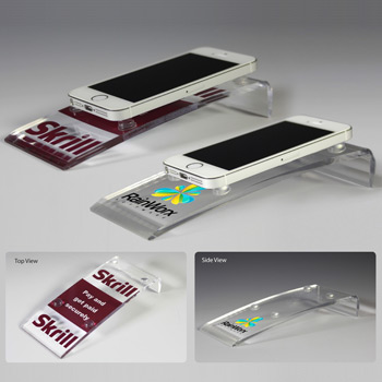 Award Quality Acrylic Cell Phone Stand (Laser)
