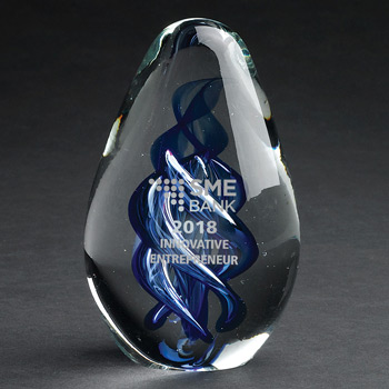 Blue Azure Art Glass Award