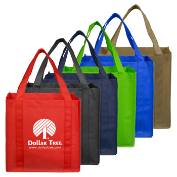 "12-1/2"" W x 13"" H - Mega Grocery Shopping Tote Bag"