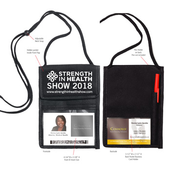 Non-Woven Econo 5 Function Tradeshow Badgeholder and Neck Wallet