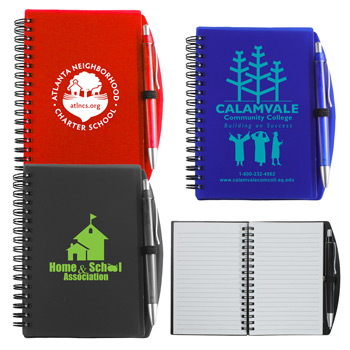 """Carmel"" Jotter Notepad Notebook with Pen"