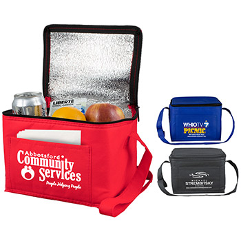 "8"" W x 6"" D x 6"" H - ""Cool-It""? Non-Woven Insulated Cooler Bag"