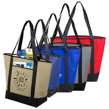 "17-1/2"" W x 13-1/2"" H x 6"" D -""The City Life""? Beach, Corporate and Travel Boat Tote Bag"