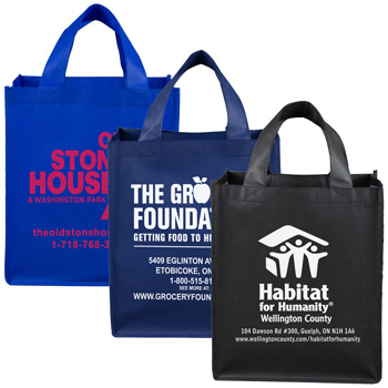 "12"" W x 14-1/2"" H -""Full View"" Large Imprint Grocery Shopping Tote Bag"