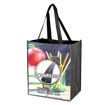 "12"" x 13"" Full Color Glossy Lamination Grocery Shopping Tote Bags"