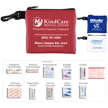 """Park Doc"" 16 Piece All Purpose First Aid Kit in Zipper Mesh Pouch"