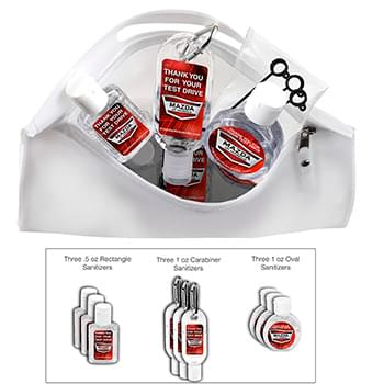 Multi-Use 9 Piece Sanitizer Kit in Zipper Pouch