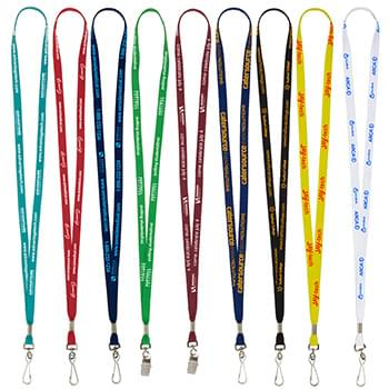 "3/8"" Overseas Silkscreen Lanyard (Overseas Production 8-10 Weeks)"